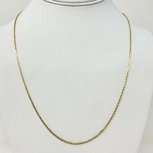 "Jewelry - 14k Gold Fancy Diamond Cut Rope Style Necklace 22"""